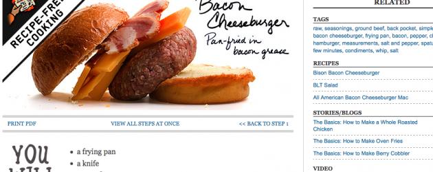 Make a Bacon Cheeseburger