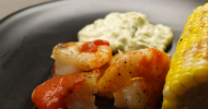 Spicy Grilled Shrimp with Avocado Dill Remoulade