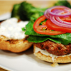Lamb Burger w/ Yogurt & Feta Sauce